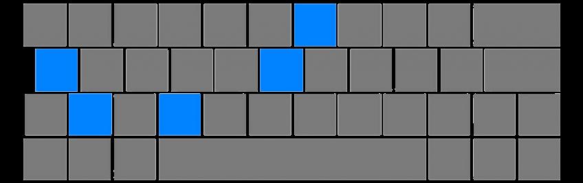 新计协键盘图案